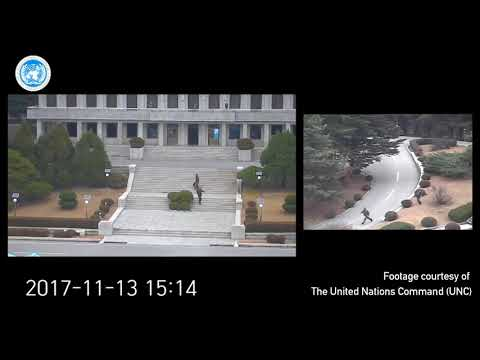 CCTV footage shows North Korean soldiers violated Armistice Agreement in pursuit of defector