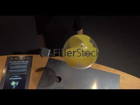 Experiment with ball floating in air flow. Heureka science centre, Helsinki