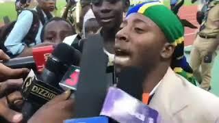 Aichokisema Joti baada ya mchezo wa Timukiba na Timusamata.Video by Millardayo