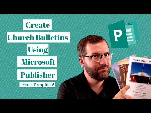 Church Bulletins: How To Create Them Using Microsoft Publisher [FREE TEMPLATE & CHECKLIST]