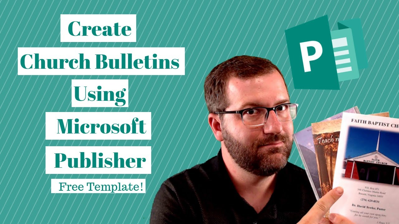 Church Bulletins: How to Create Them Using Microsoft Publisher [FREE  TEMPLATE] Within Church Program Templates Word