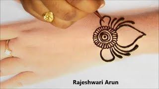 very easy back hand mehndi designs *simple henna mehndi designs for hands *latest mehndi design 2020