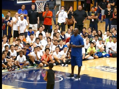 Kid shoots lights out at MJ camp as he tries to win Air Jordans for the whole team