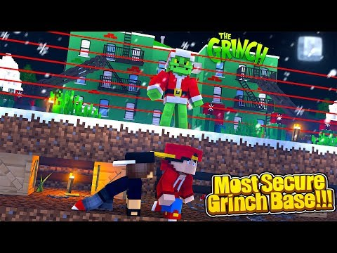Minecraft Most Secure - ROPO TRIES TO BREAK INTO THE GRINCH'S BASE!
