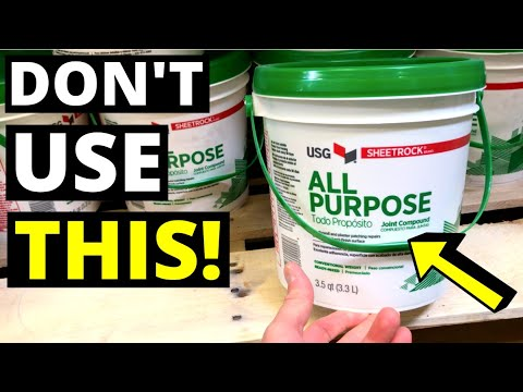 Don T Use Drywall Bucket Mud Use This Instead Quick Setting Joint Compound Hot Mud Youtube