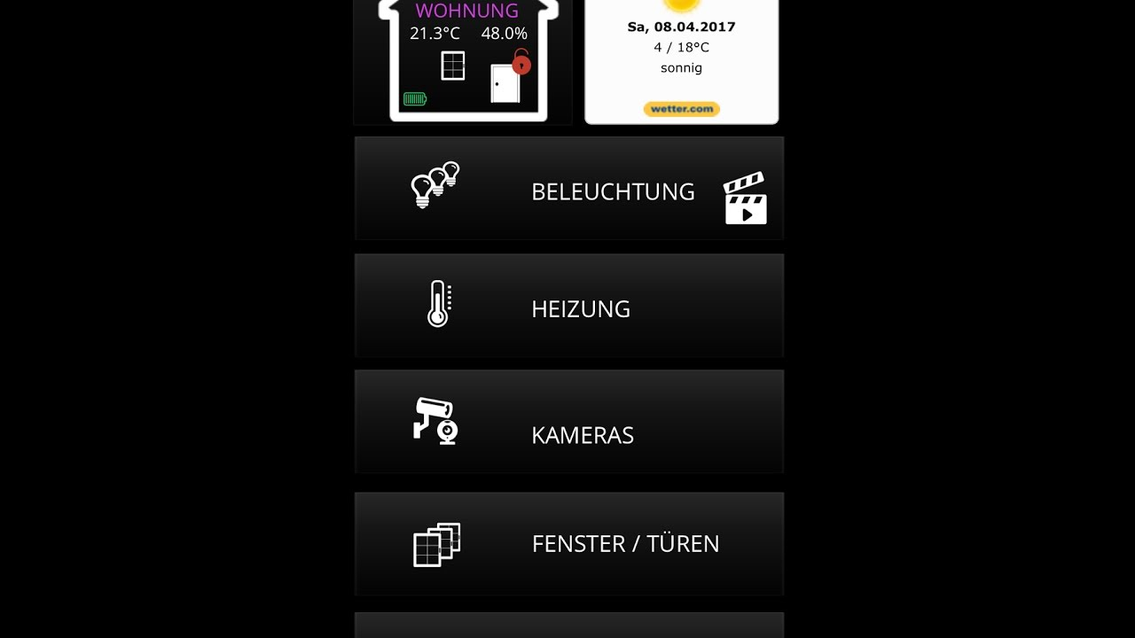 neo creator mediola meine smarthome steuerung iphone version youtube. Black Bedroom Furniture Sets. Home Design Ideas