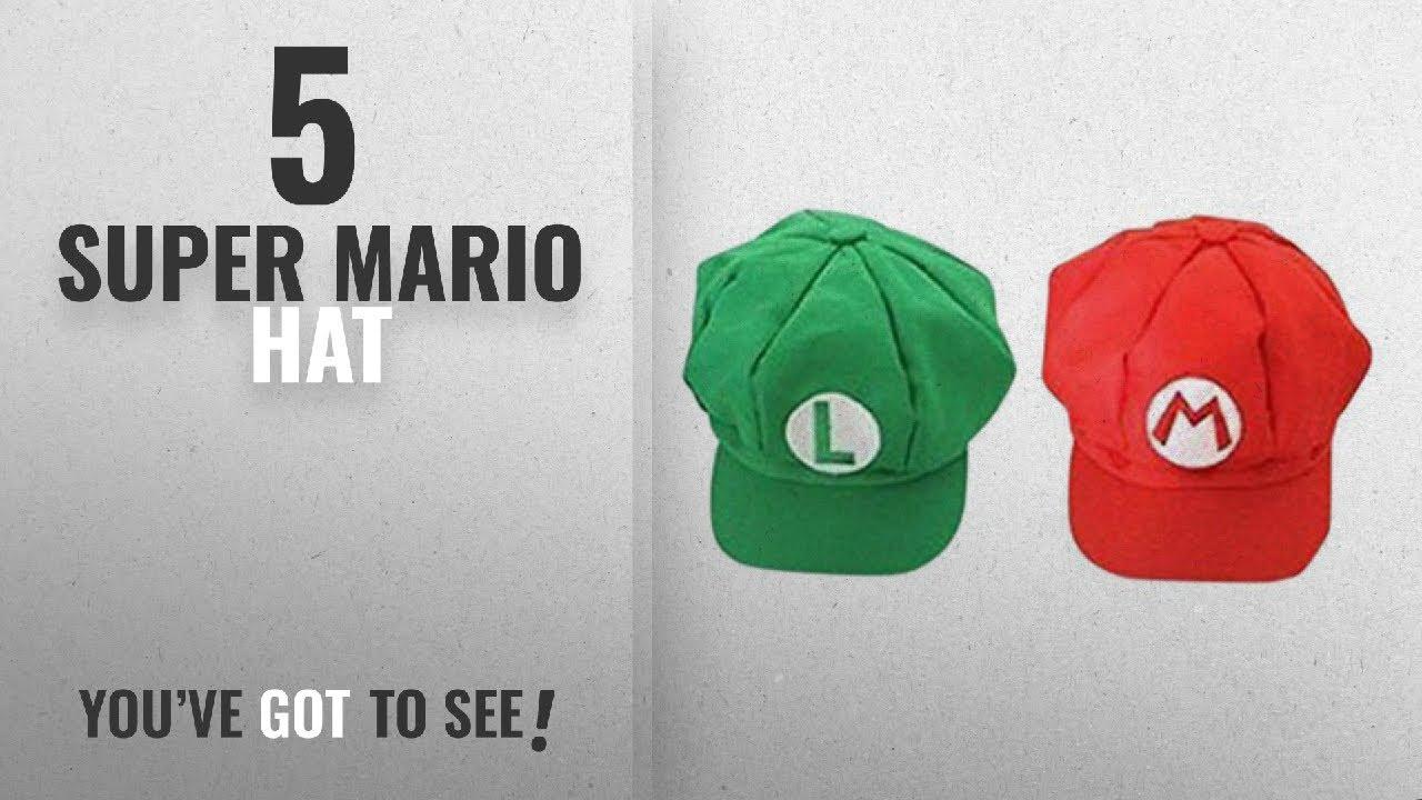 63420a1fd Top 10 Super Mario Hat [2018]: Luckystone Super Role Play Bros Hat, Mario  Luigi Cap Cosplay