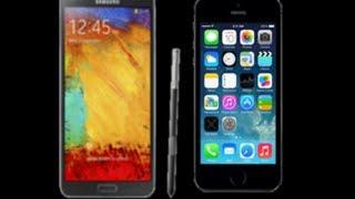 iphone 5s vs galaxy note 3 مقارنة بين الهاتفين الجديدين الايفون 5 اس وجالكسي نوت 3