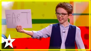 Little Kid Magician Guesses What David's Thinking!! | Kids Got Talent