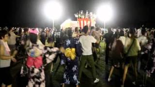 岐阜県美濃加茂市で毎年行われる「おん際」夏の陣での盆踊り。 日本で最...