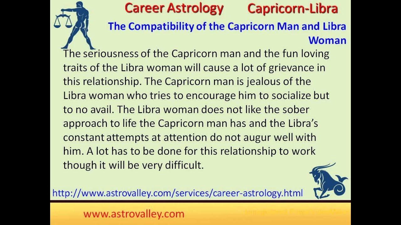 Libra woman compatibility with capricorn man