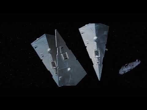 IMPERIAL STAR DESTROYER VS. MC80 HOME ONE