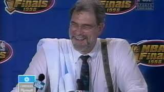 Phil Jackson 1998 NBA Finals Game 6 Postgame Press Conference (Final Game as Bulls Coach) 06/14/1998