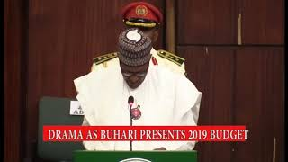 Buhari booed by lawmakers while presenting 2019 budget