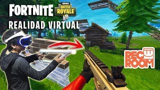 FORTNITE IN VIRTUAL REALITY - My First Victory at Rec Room Royale
