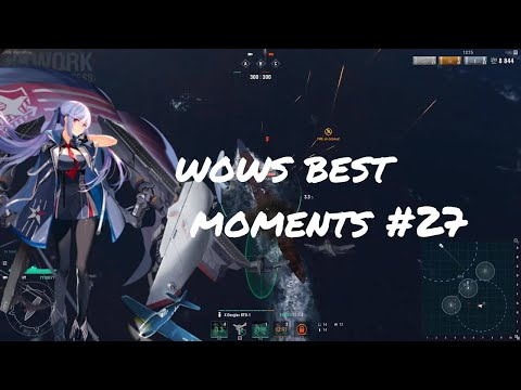World of Warships Best Moments #27 CV Rework 1v1 Midway Edition