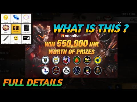 FULL DETAILS || ABOUT NONOLIVE 2019 GIVEAWAY IN FREE FIRE || FULL EVENT  DETAILS || GARENA FREE FIRE