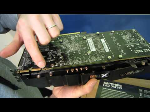 Sapphire HD 7970 OC 3GB Video Card With Twin-X Cooler Unboxing \u0026 First Look Linus Tech Tips