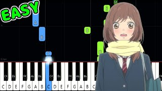 I Will - Ao Haru Ride - SLOW EASY Piano Tutorial [animelovemen]