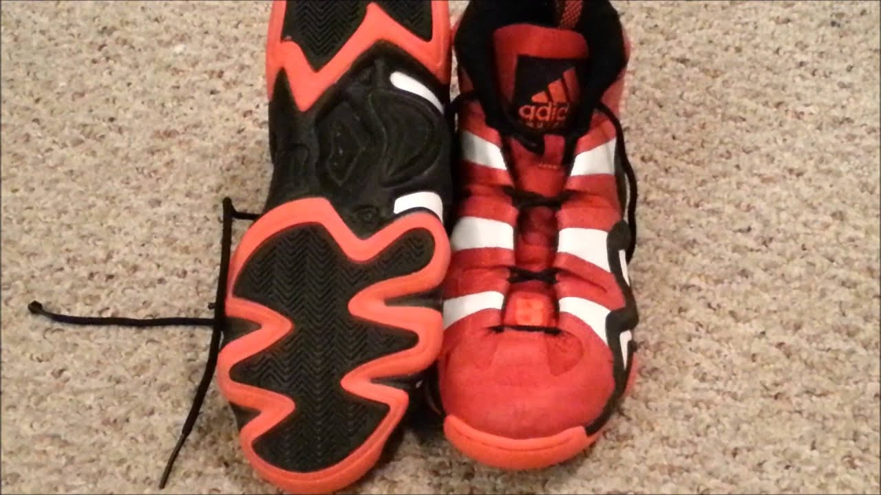 3c44c055143b Adidas Crazy 8 - On feet University Red Running White - YouTube