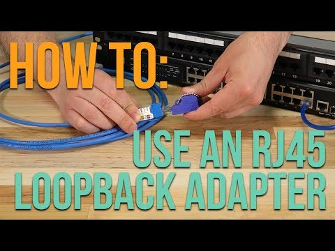 How to: Using an RJ45 Loopback Adapter - YouTube Hard Loop Ethernet Wiring Diagram on