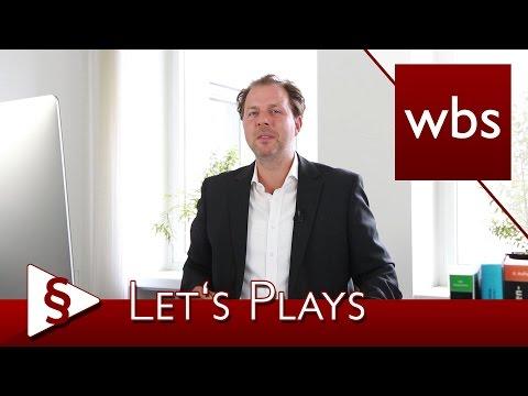Recht für YouTuber: Was ist bei Let's Plays zu beachten?   Kanzlei WBS
