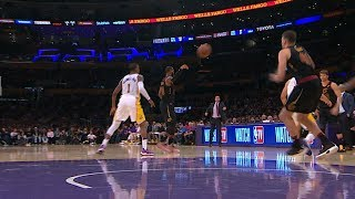LeBron Has Eyes All Around His Head, Beautiful No-Look Pass!