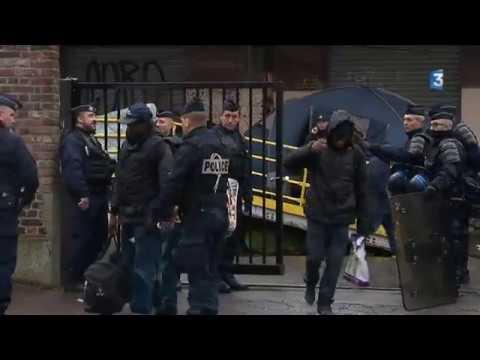 Lille : le camp de migrants de la friche Saint-Sauveur évacué