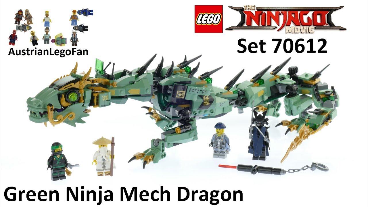 Lego Ninjago Movie 70612 Green Ninja Mech Dragon Lego Speed Build