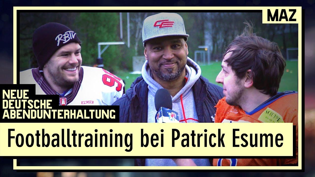 footballtraining bei coach patrick esume gunnar und andreas stoen an ihre grenzen
