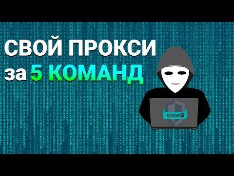 Создать прокси сервер SOCKS5 за 5 команд