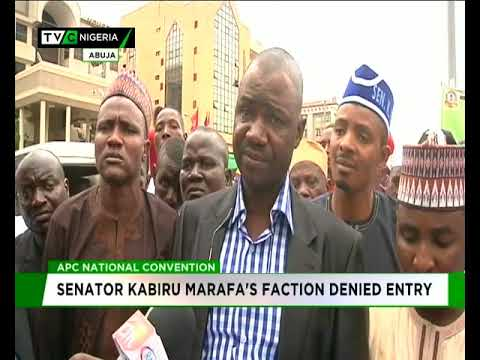 Download APC Convention: Sen. Kabiru Marafa's faction denied entry