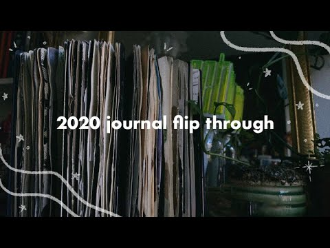2020 journal flip through