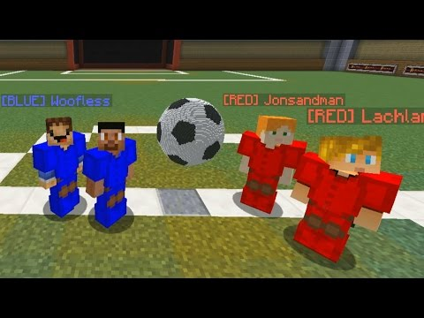 FOOTBALL IN MINECRAFT MINIGAME - 2v2 RED vs BLUE Soccer