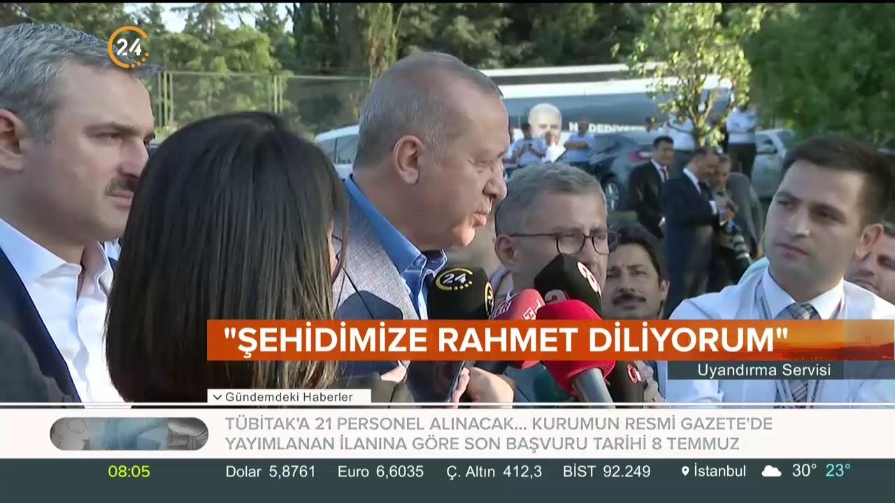 Başkan Erdoğan: Mursi kardeşimize, şehidimize Allah'tan rahmet diliyorum