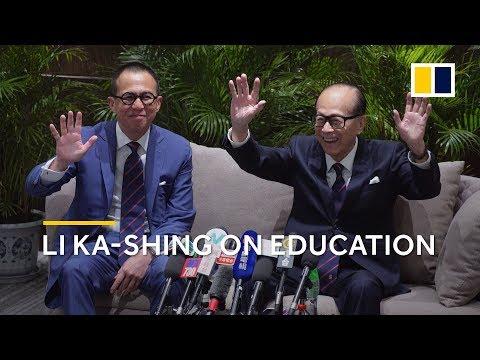 Hong Kong richest man Li Ka-shing on education