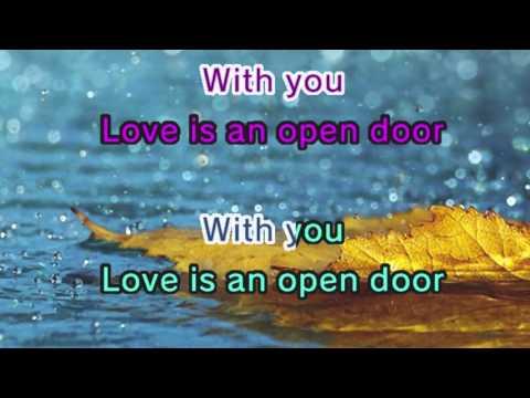 Love Is An Open Door - Frozen (Karaoke and Lyric Version)