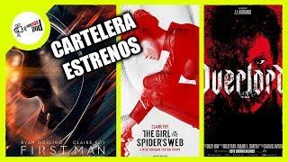 El primer hombre, Operación Overlord, La chica en la telaraña cartelera de estrenos CineMasPod