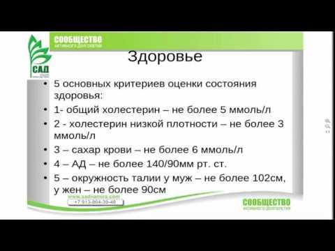 Т. Севостьянова. Основные критерии здоровья