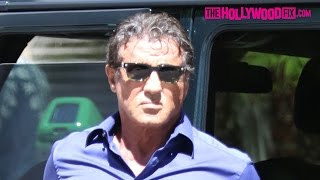 Sylvester Stallone In A Bad Mood Running Errands In Beverly Hills 9.17.15 - TheHollywoodFix.com