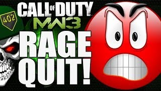402THUNDER402 Rage Quits! The Host Disadvantage - MW3 Multiplayer