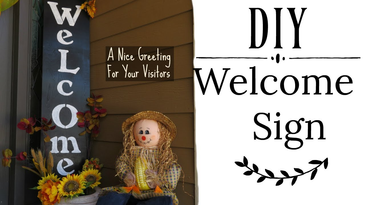 Delicieux DIY Welcome Sign For Your Front Door Entrance | Fall Outdoors Home Decor