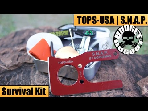 Mini Survival Kit | TOPS Knives USA — S.N.A.P Survival Knife & Altoids Survival Kit