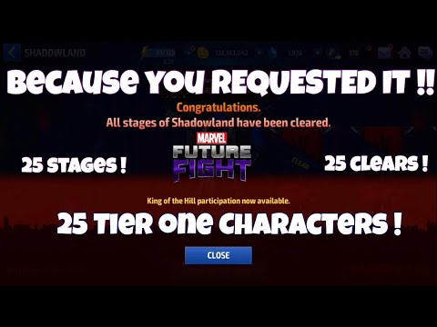 HOW TO BEAT SHADOWLAND WITH ONLY TIER 1 CHARACTERS!!   Marvel Future Fight