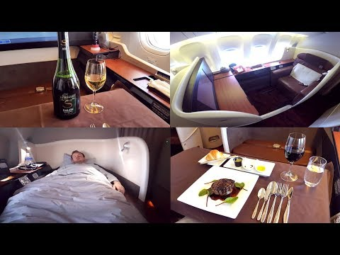 Japan Airlines FIRST CLASS Tokyo to London|Boeing 777-300ER