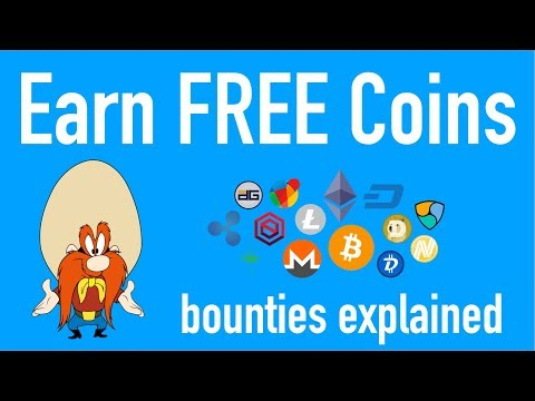 Earn FREE Crypto Coins! Bounty Programs Explained!