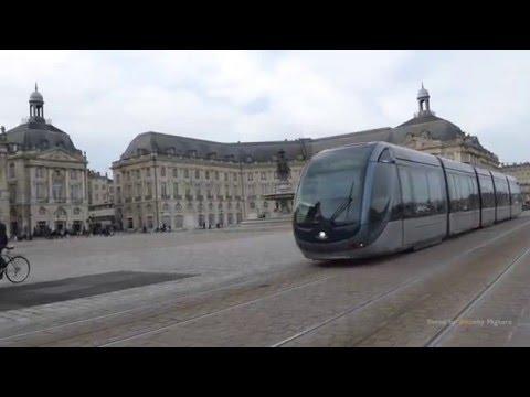 Trams in Bordeux, France - trams à Bordeaux, France