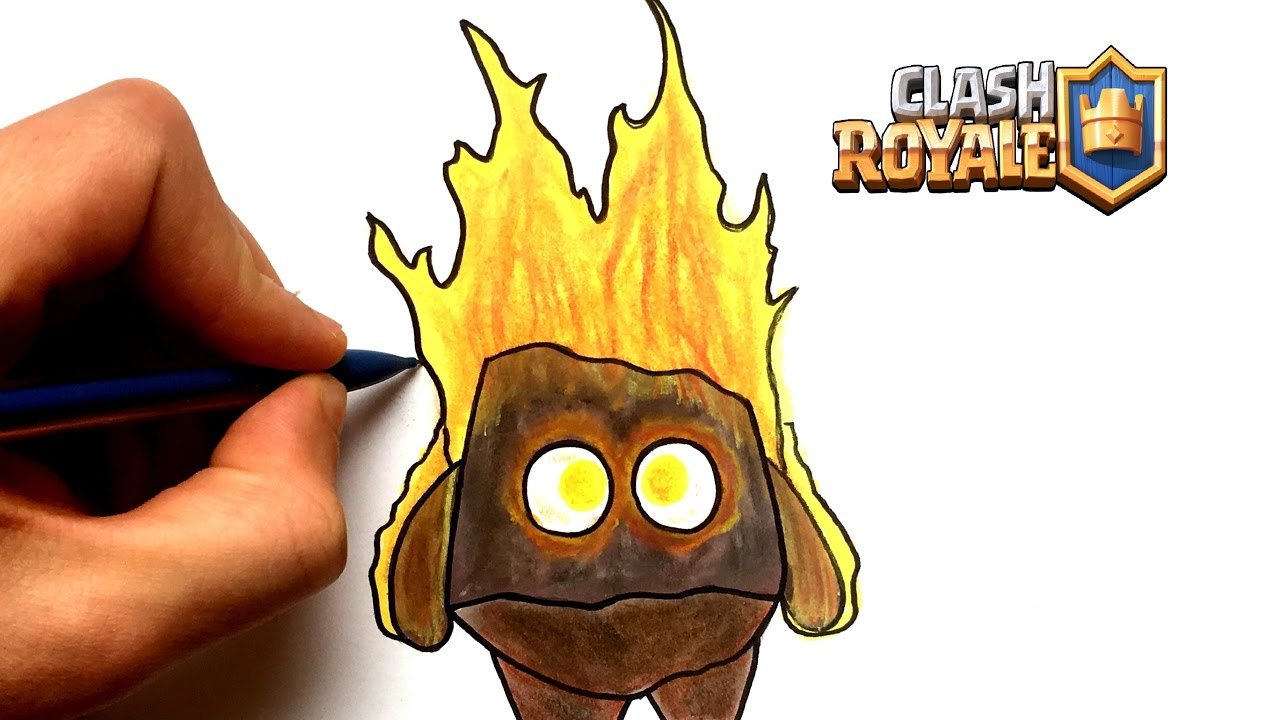 Dessin Esprit De Feu Clash Royale Youtube