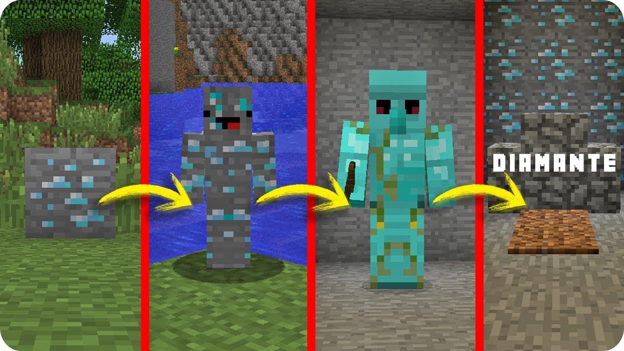 Diamante vs la vida en minecraft si el ciclo de vida for Videos de minecraft en la vida real
