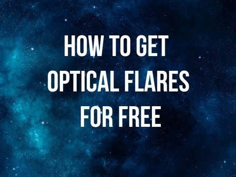 how to make optical flares in after effects